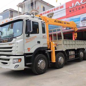 Xe tải JAC 5 chân gắn cẩu Soosan 10 tấn