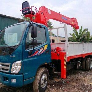 Xe tải Thaco Ollin 700B gắn Cẩu Kanglim 5 tấn