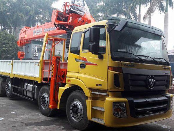 Thaco Auman C34 gắn cẩu Kanglim 15 tấn