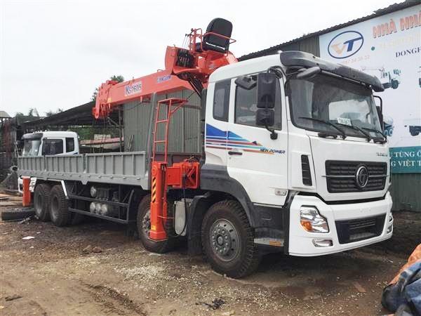 Xe tải Dongfeng Hoàng Huy gắn Cẩu Kanglim 10 tấn