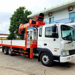 Xe tải Hyundai HD210 gắn Cẩu KangLim 5 Tấn