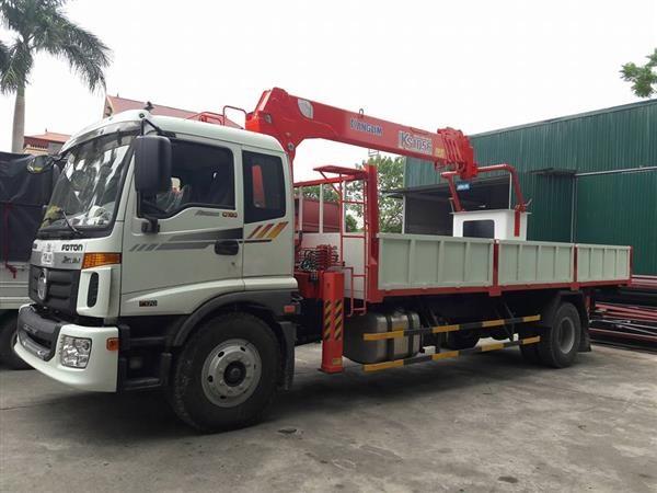 Xe tải Thaco Auman C160 gắn cẩu Kanglim 5 tấn