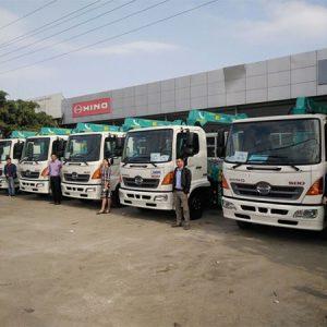 Xe tải Hino FC gắn cẩu HKTC 3 tấn