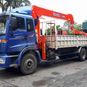 Thaco Auman C240C gắn cẩu Kanglim 7 tấn