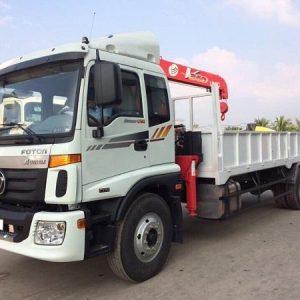 Xe tải Thaco Auman C160 gắn cẩu Unic 3 tấn