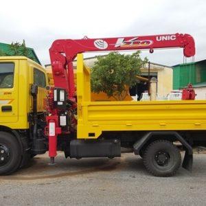 KIA K165S gắn Cẩu UNIC UR-V230 2.3 tấn