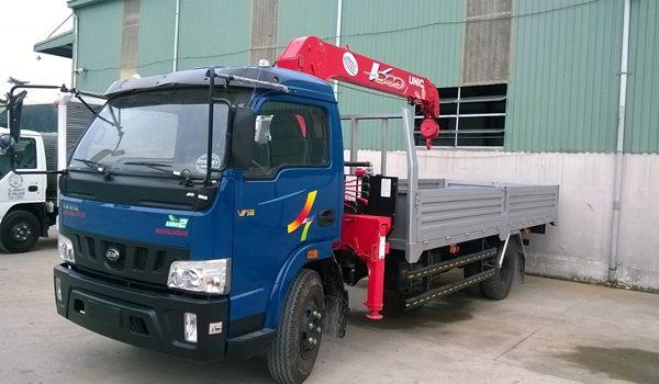 Xe tải Veam VT340 gắn cẩu Unic 3 tấn