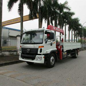 Xe tải Thaco Auman C160 gắn cẩu Unic 5 tấn